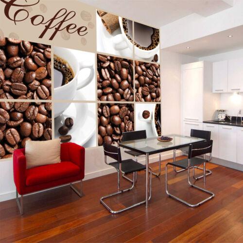 Tapete Fototapeten Tapeten KAFFEE TRINKEN TASSE  Kaffeebohnen 14N114P8