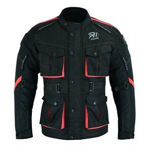 ARN® New Motorcycle Waterproof Cordura Textile black Jacket Motorbike CE Armours