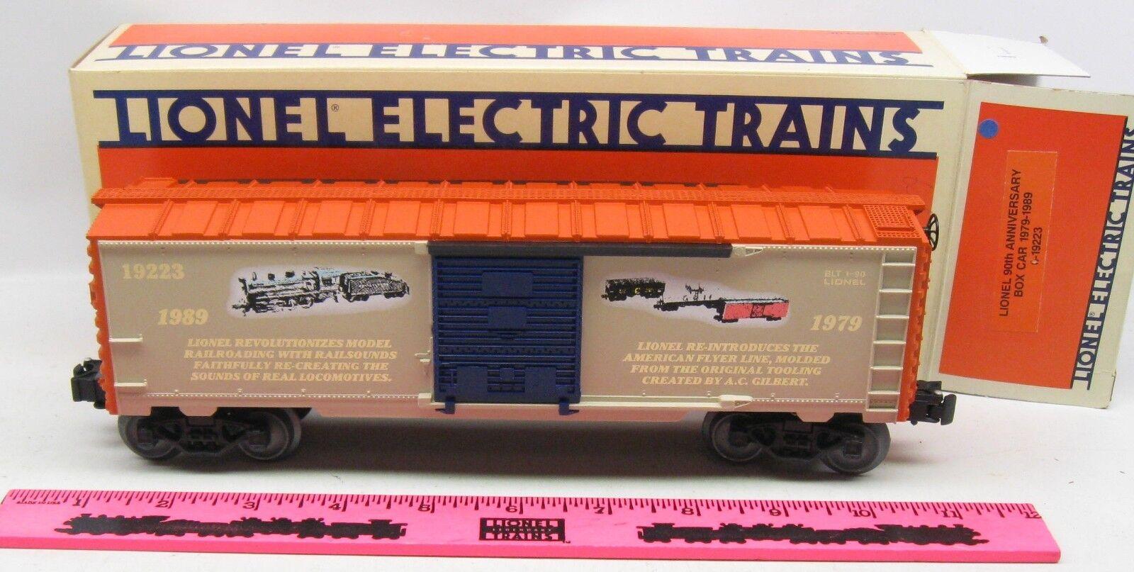 Lionel  6-19223 Lionel 90th anniversary box car 1979-1989