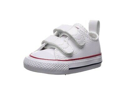 Converse Shoe Chuck Taylor All Star 2V Toddler Baby Infant White Leather Low Top | eBay