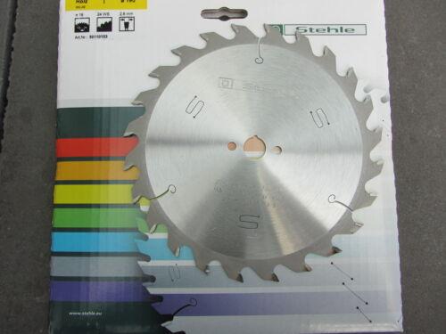 HM-Handkreissägeblatt//Sägeblatt 190 x 16 Z 24 Stehle für Black/&Decker// Skil