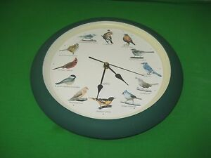 12-North-America-Bird-Songs-or-Chirps-Quartz-Battery-Operated-Wall-Clock-Taiwan