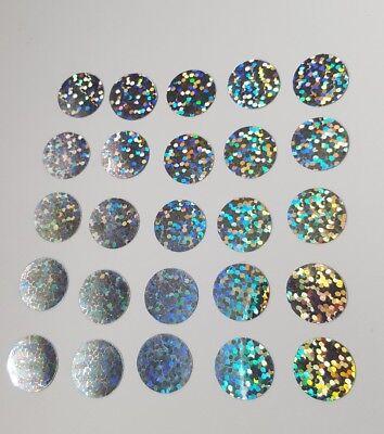 Hotfix iron on transfers 50 blue glitter circles size 13mm