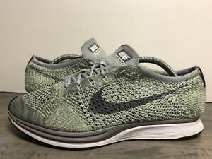 Nike-Flyknit-Racer-Ghost-Green-Grey-Running-Size-10-5-526628-103-2017