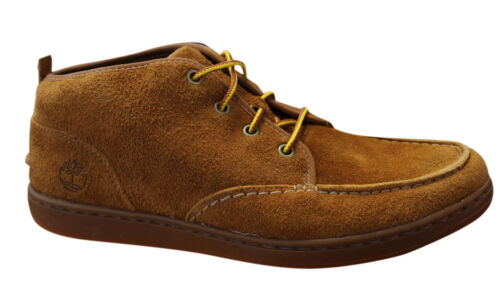 Timberland Newmarket Chukka Mens Lace Up Loafers Casual Shoes Wheat 6055R T2D