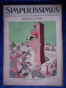 """""""simplicissimus-vol-nº 7 Du 20. Novembre 1954""""-s - Heft-nr. 7 Vom 20. November 1954"""" Fr-fr Afficher Le Titre D'origine Assurer IndéFiniment Une Apparence Nouvelle"""