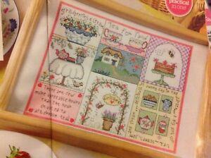 N-Summer-Garden-Tea-And-Cake-Sampler-Cross-Stitch-Chart