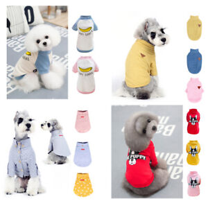 Pet-Dog-Cat-Clothes-Puppy-Various-Summer-Vest-T-Shirt-Dress-Coat-Apparel-Costume
