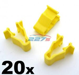20x-Honda-Civic-CRV-amp-HRV-Yellow-Wheel-Arch-Trim-Clips-Snap-Fit-90601-SMG-003