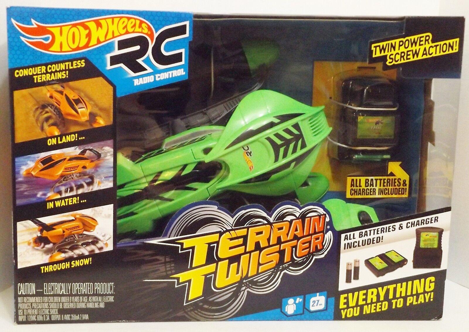 nuevo Hot Ruedas Radio Control Terrain Twister Vehículo Conjunto de Juego (Verde) {4397}