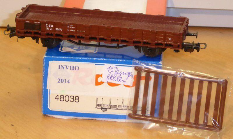 Roco 48038 niederbord-Rungenwagen ND SSC ep.3 Conf. Orig., KKK U. NEM, wagennr