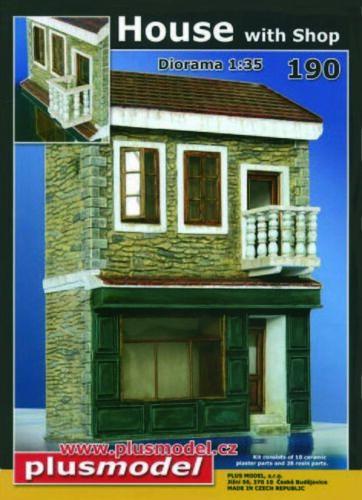 Plus Model 190-1:35 Keramikteile Haus mit Shop