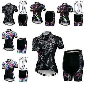 Damen Radsportbekleidung Kurzarm Radtrikot Gepolstertes Shorts Tragerhose Set Ebay