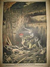 BREST CIMETIERE PROFANATION TOMBES DETROUSSEUR DE CADAVRES LE PETIT JOURNAL 1908