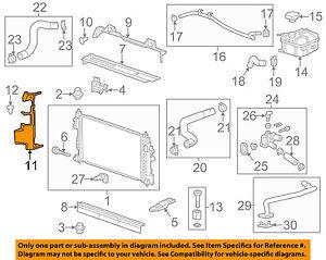 OEM Genuine GM Center Support Cover Radiator Upper Baffle 14-18 Impala 23200187