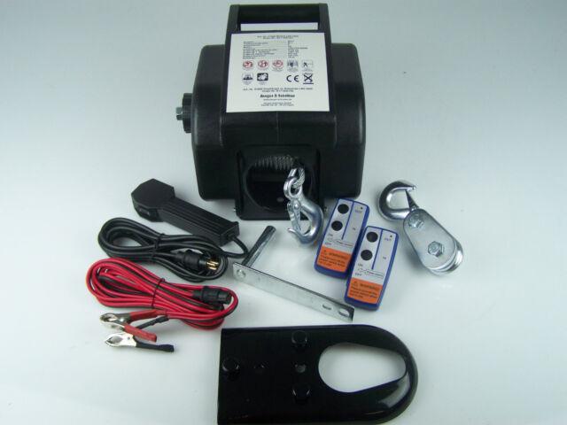 Elektrische Seilwinde Motorwinde Winde 12V 8600kg Funk Fernsteuerung + Zubehör