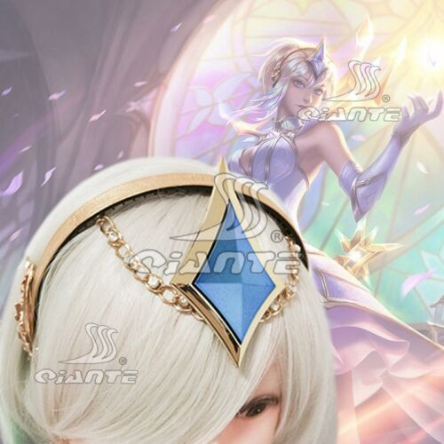 New LOL Light Elementalist Lux Head-band with Blue Resin Stone Cosplay Headgear