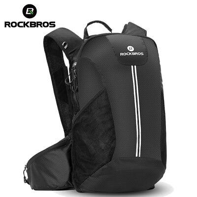 RockBros Cycling Hiking Backpack Water Bag High Capacity Hydration Packs Black