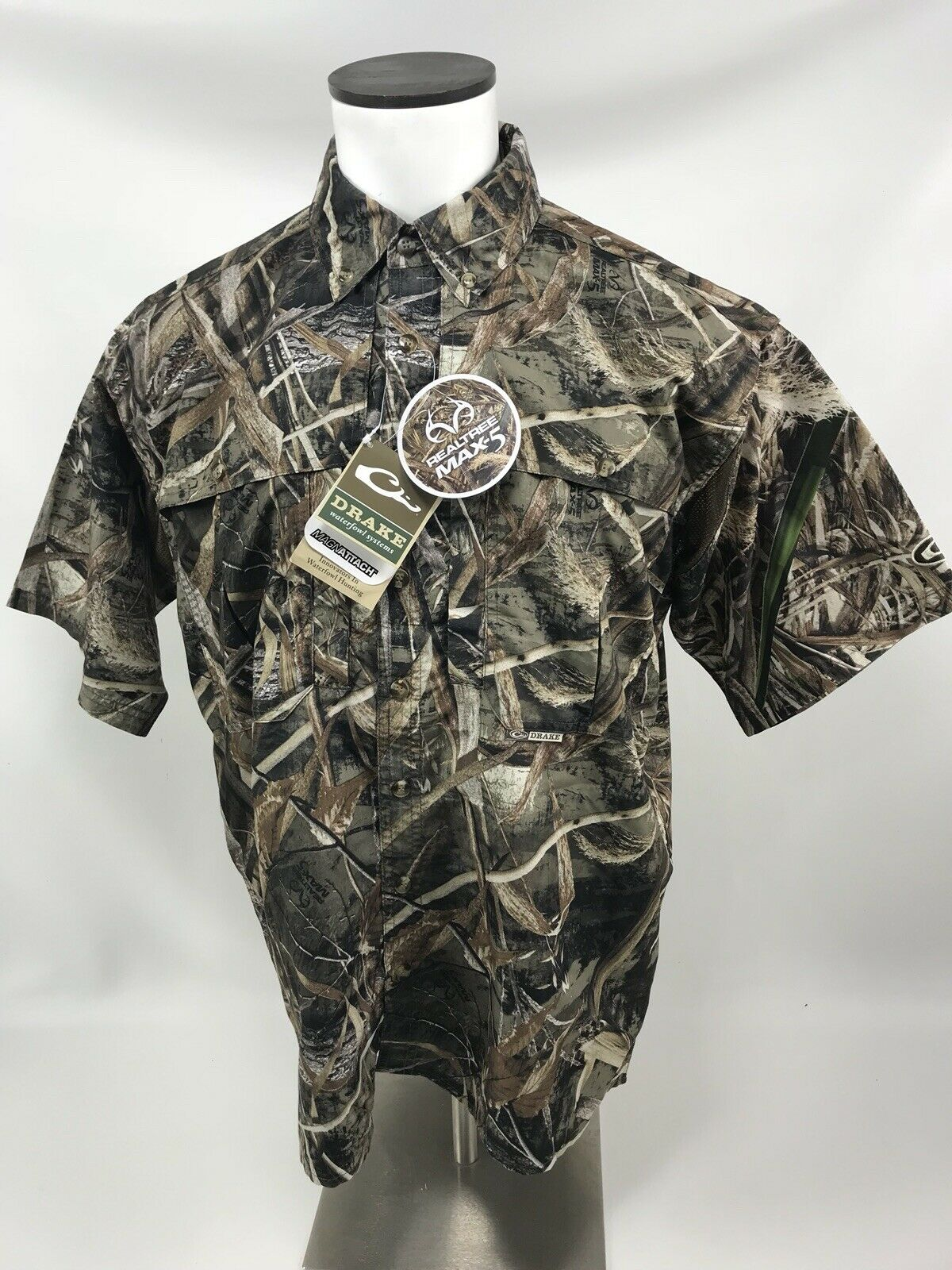 Drake Waterfowl DW2600-015-2 Wingshooter Mens Max-5  Camo Medium S S Shirt  in stadium promotions