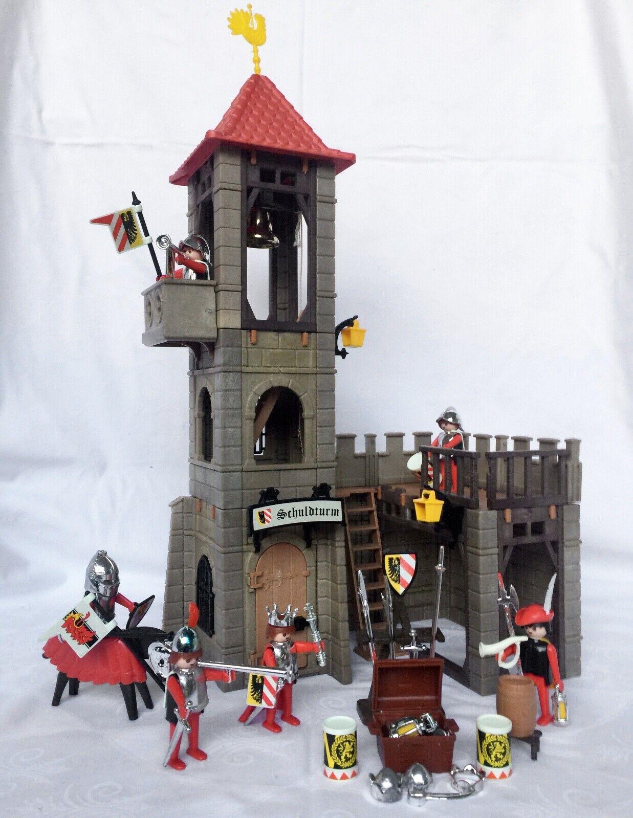 Playmobil 3445 Schuldturm + Zubehör Ritter Burg Mittelalter