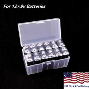 new style 77220 3ff39 Details about 9v Battery Storage Case/Box/Organizer/Holder Clear for 12×9v  Batteries