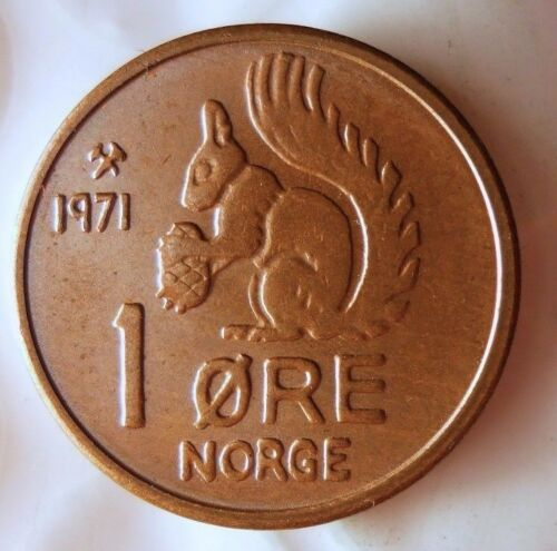 From Roll 1971 NORWAY ORE FREE SHIPPING UNCIRCULATED Squirrel Coin