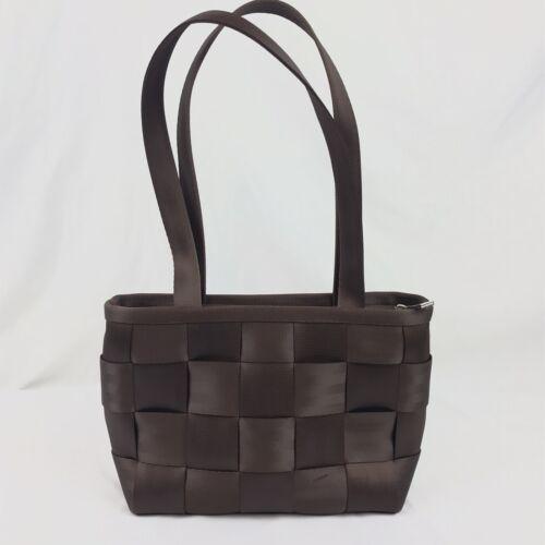 Shiny Brown Harveys Original Seatbelt Handbag Purs