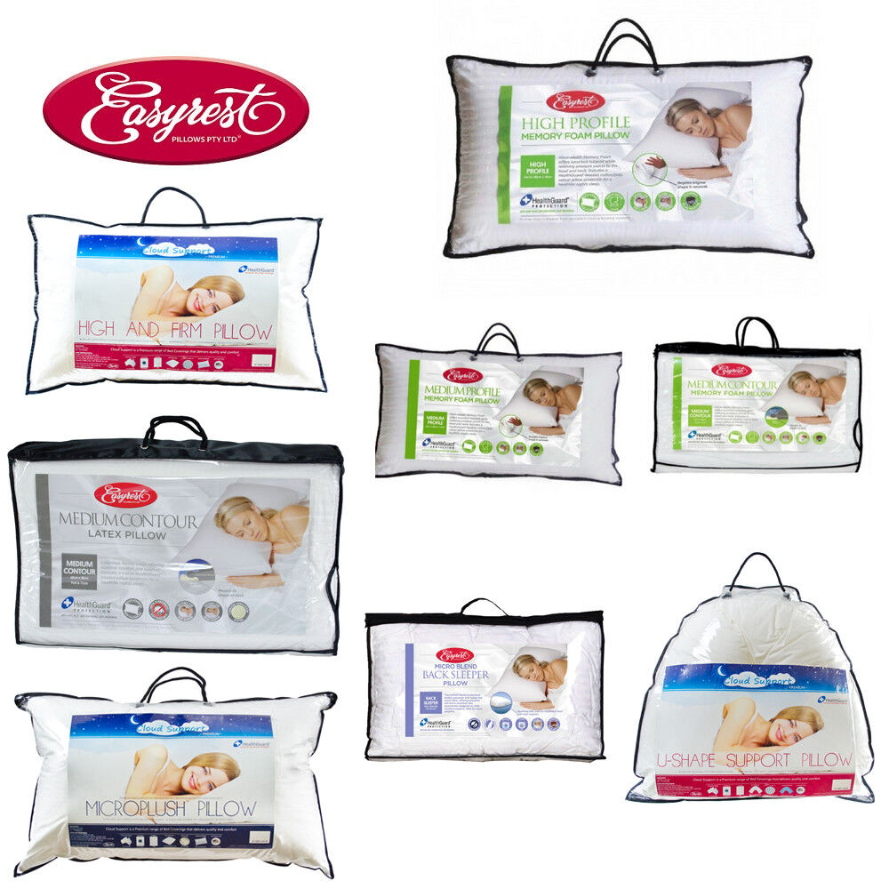New Easyrest Cloud Support Microplush Soft Cushion Standard Pillow