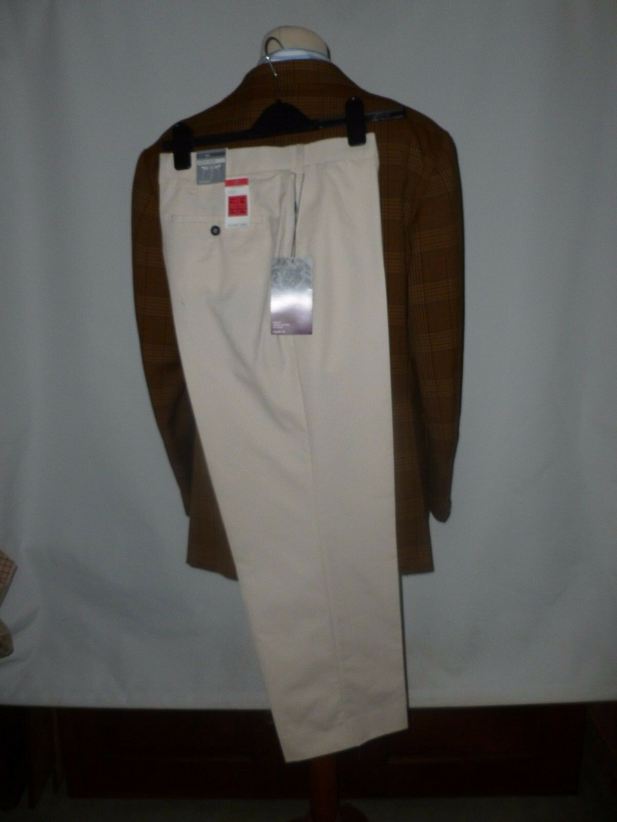MARKS AND SPENCER COTTON RICH TROUSERS    36 WAIST   29  INSIDE LEG NEW