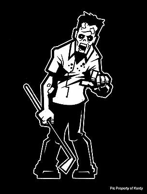 """Stocking stuffer /""""Walking Dead/"""" Zombie Dad Man Father Family Car Decal Sticker"""