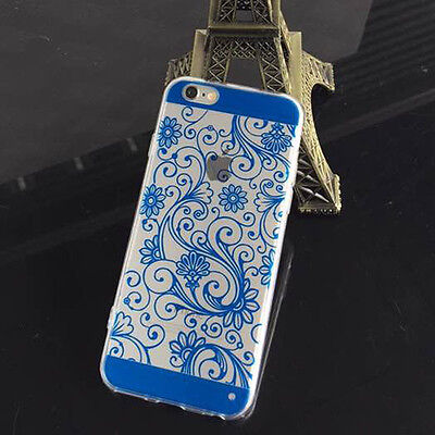 Latest  Silicone TPU Soft Vintage Clover Clear Case Cover For iPhone 5 5S/6 4.7""