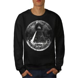 Hombres Nuevo Pyramid Negro Sudadera Illuminati 6OZaqwYW