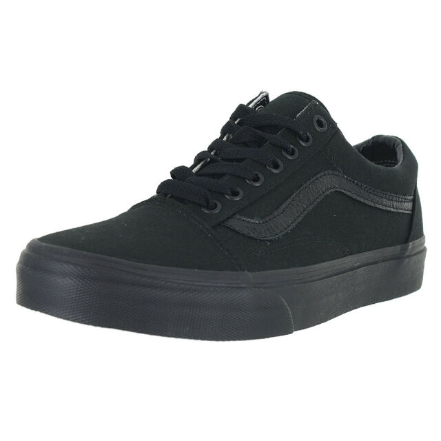 1796c0e7e22a09 VANS Old Skool Men Round Toe Canvas Black SNEAKERS 7 for sale online ...