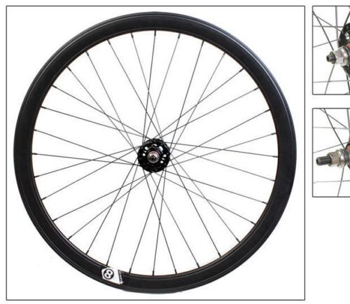 Origin8 Track Attack 42mm Wheelset Fixed Loose Ball Black 700c 32h F/&R gloss