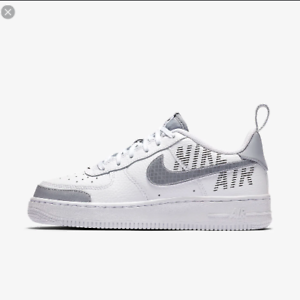 Details about NIKE SHOES WOMAN AIR FORCE 1 LV8 2 GS WHITE GREY WOLF GREY BQ5484 100 NEW