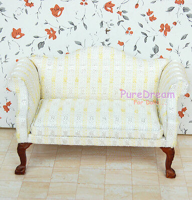 1:6 Dollhouse Furniture Couch Sofa Armchair With Carved leg New