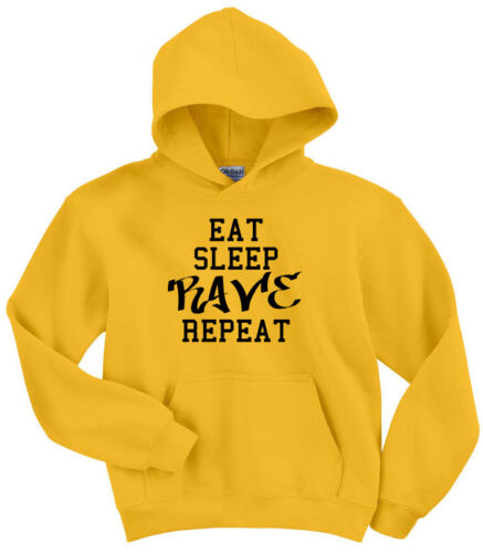 Repeat bebés Club Hoodie Eat Rave Party Sleep para Ropa Festival g5cUAqXcn