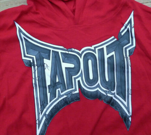 TAPOUT MENS GRAPHIC LOGO THERMAL KNIT PULLOVER LONG SLEEVE SHIRT W//HOOD LIS $38