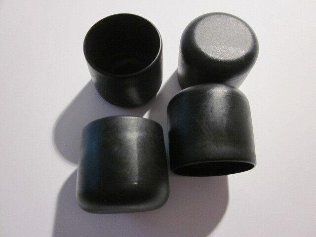 4 Stuhlbeinkappen schwarz 30 mm,  Möbelgleiter Filzgleiter Kappen Rohrkappen