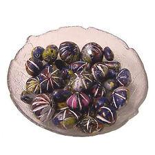 Tonperlen 30 Perlen blau dunkelblau Basteln Malen Kreativität Spielzeug Schmuck