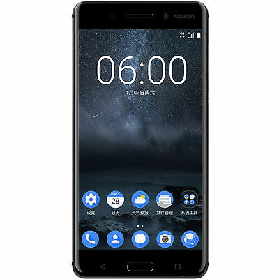 New Nokia 6 Factory Unlocked 64GB Dual SIM Black Android 4G LTE 5.5'' Smartphone