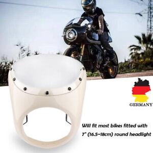 Universal-7-034-Motorrad-Scheinwerfer-Verkleidung-Lampenmaske-fuer-Harley-Cafe-Racer