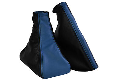 FITS ASTRA G Mk4 COUPE/4 DOORS LEATHER BLUE & BLACK GAITERS 2 TONES LEATHER