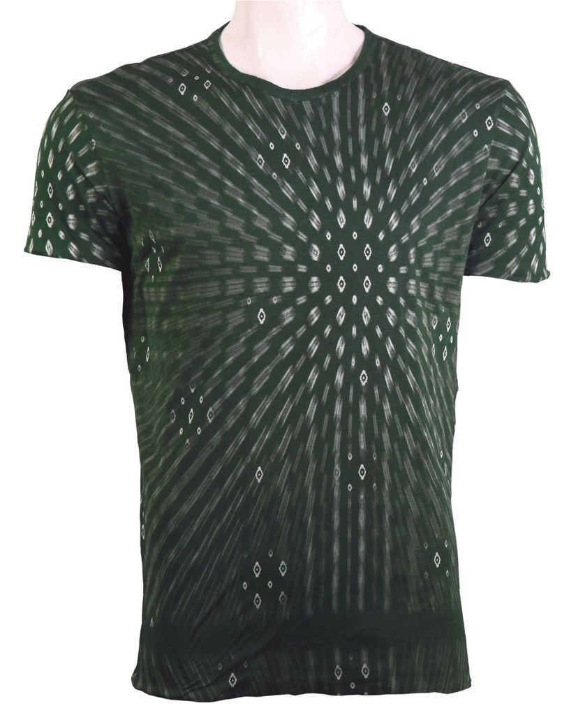 C'N'C (Costume National) full body double layered skinny fit tee dark green