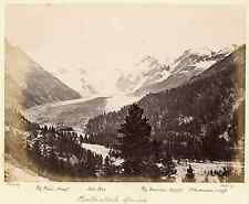 Flury. Suisse, glacier Morteratsch Vintage albumen print Tirage albuminé  18