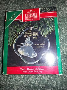 HALLMARK Keepsake 1992 NINE LADIES DANCING Twelve Days Of ...