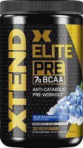 Scivation XTEND Elite Pre BCAA Powder - 30 Servings - Blue Raspberry Ice