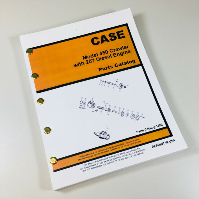 case 450 crawler dozer w 207 engine parts manual catalog assembly rh ebay com