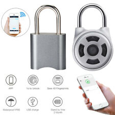 Portable Waterproof Fingerprint Padlock Smart APP Bluetooth Lock Door Keyless S8