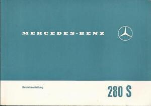 MERCEDES-W-108-Betriebsanleitung-1967-280-S-8-Bedienungsanleitung-Bordbuch-BA